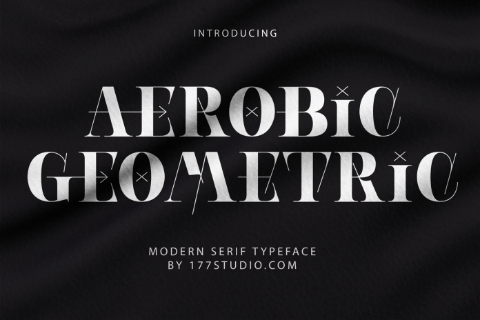 Aerobic Geometric Font