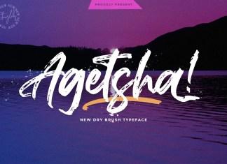 Agethsa Brush Font