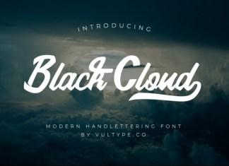 Black Cloud Script Font