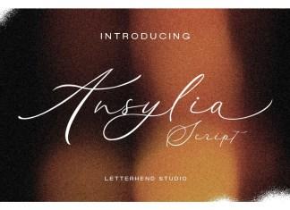 Ansylia Script Font