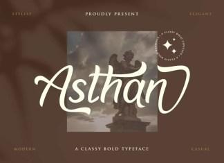 Asthan Script Font