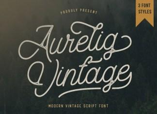 Aurelig Script Font