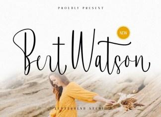 Bert Watson Calligraphy Font