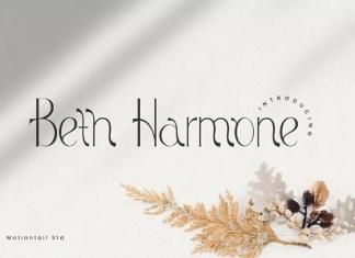 Beth Harmone Serif Font