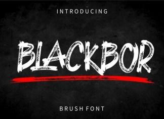 BLACKBOR Brush Font