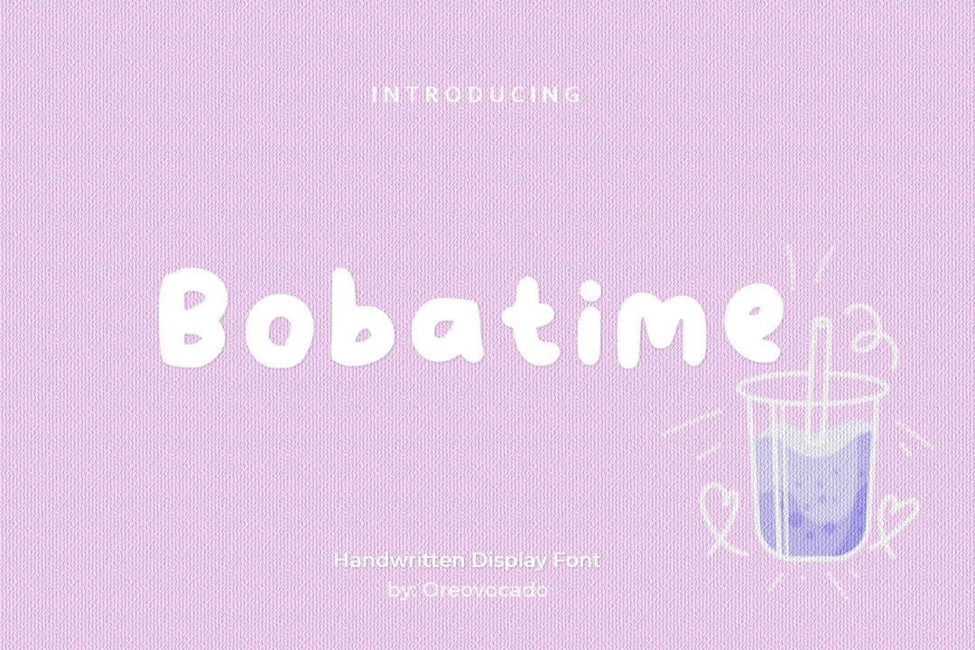 Bobatime Display Font