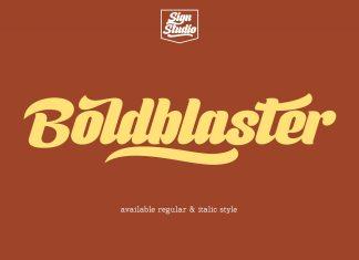 Boldblaster Script Font