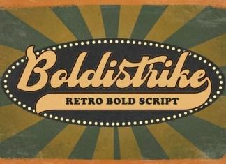 Boldstrike Bold Script Font