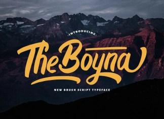 Boyna Bold Script Font