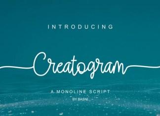 Creatogram Handwritten Font