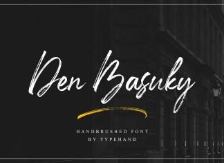 Den Basuky Brush Font
