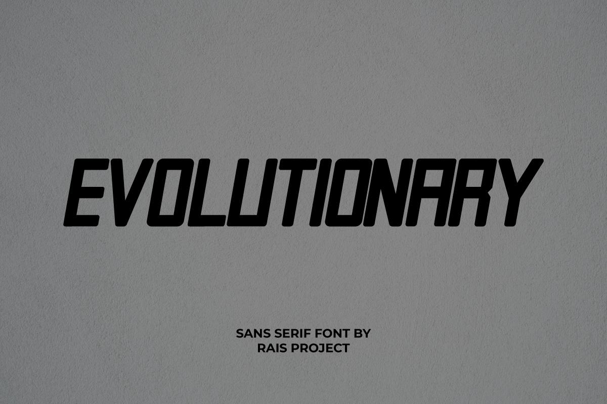 Evolutionary Display Font