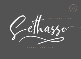Sethasso Calligraphy Font