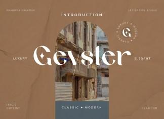 Geyster Serif Font
