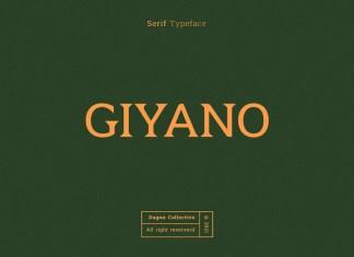 Giyano Serif Font