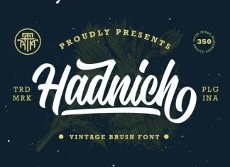 Hadnich Bold Script Font