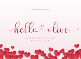 Hello Olive Calligraphy Font