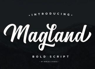 Magland Bold Script Font