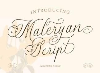 Maleryan Calligraphy Font