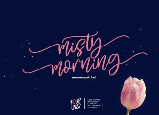 Misty Morning Calligraphy Font