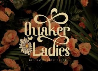 Quaker Ladies Display Font