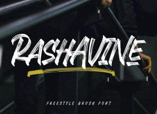 Rashavine Brush Font