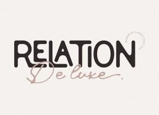 Relation De Luxe Display Font