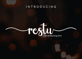 Restu Calligraphy Font