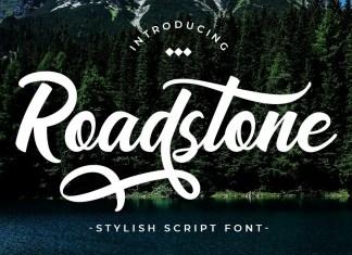 Road Stone Bold Script Font
