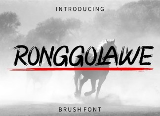 RONGGOLAWE Brush Font
