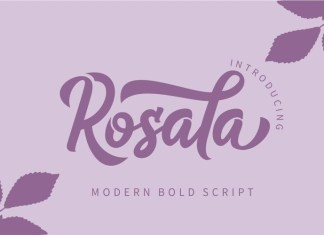 Rosala Bold Script Font