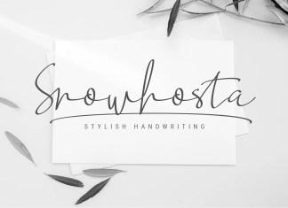 Snowhosta Handwritten Font