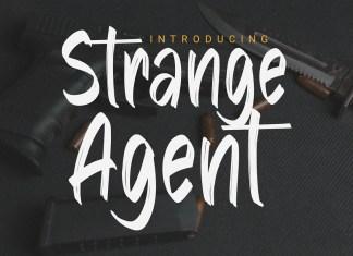 Strange Agent Brush Font
