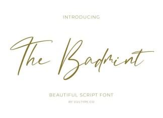The Badmint Handwritten Font