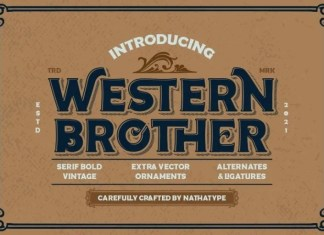 Western Brother Display Font