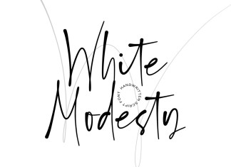 White Modesty Script Font