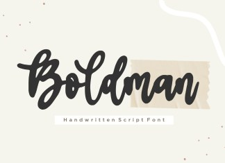 Boldman Script Font