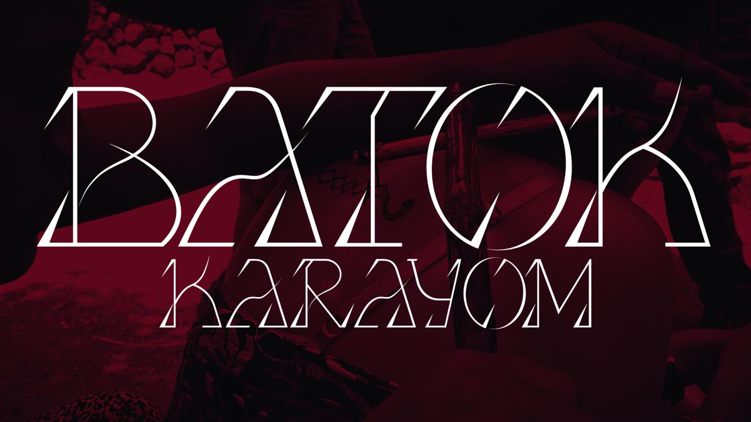 Batok Karayom Display Font