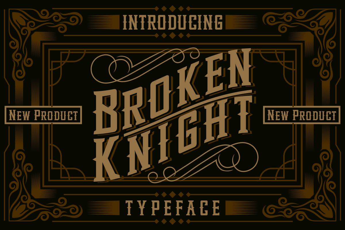 Broken Knight Display Font