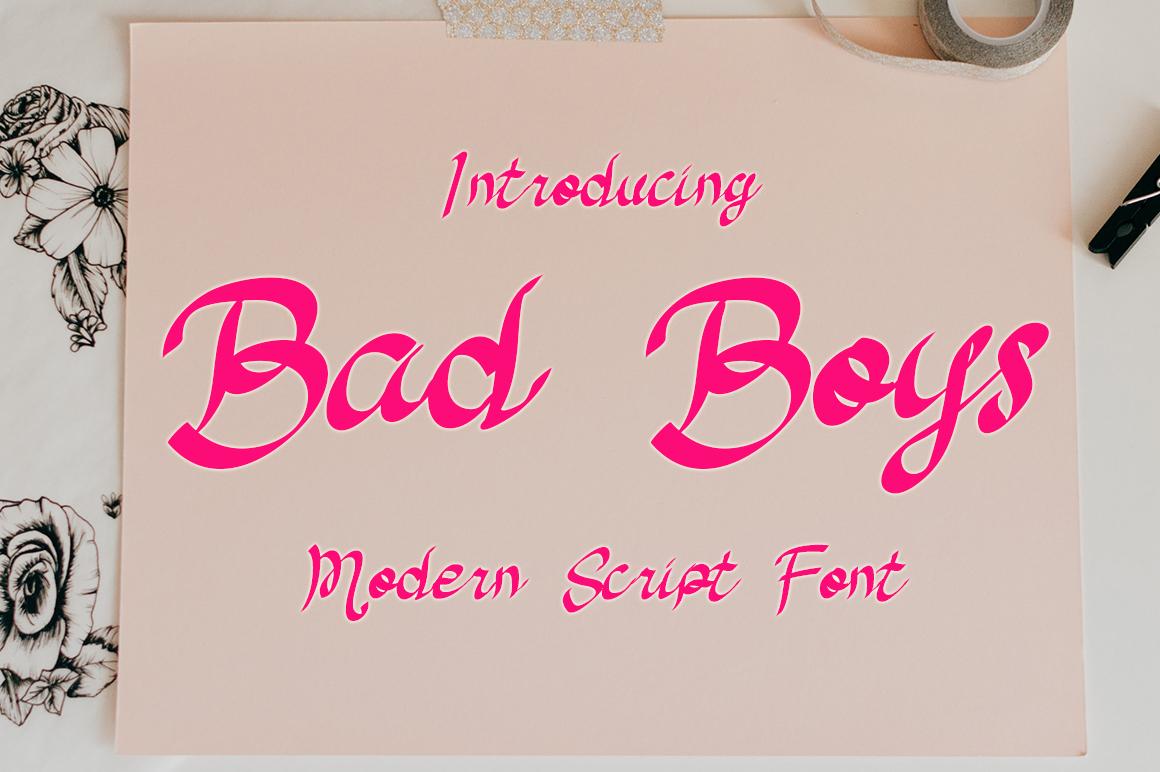 Bad Boys Script Font