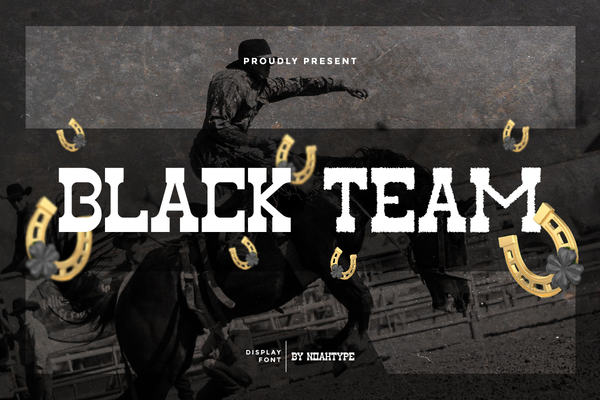 Black Team Slab Serif Font
