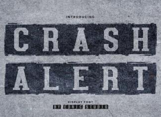 Crash Alert Display Font