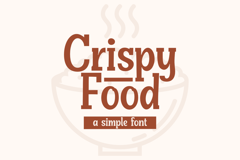 Crispy Food Font