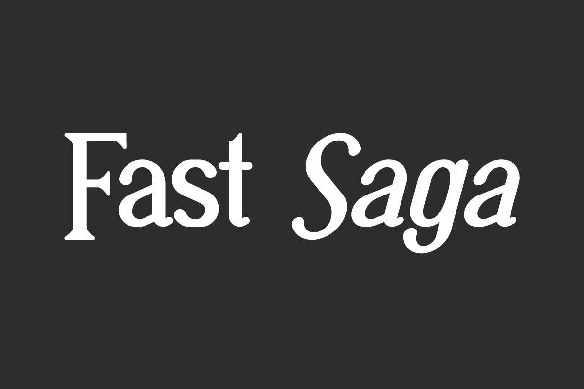 Fast Saga Serif Font