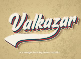 Valkazar Display Font