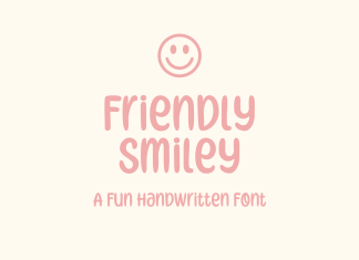 Friendly Smiley Display Font