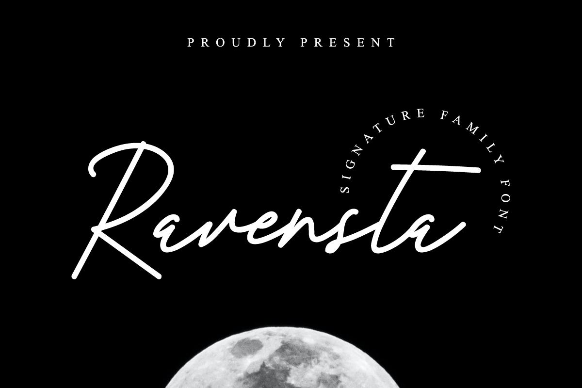 Ravensta Handwritten Font