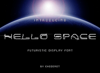 Hello Space Display Font