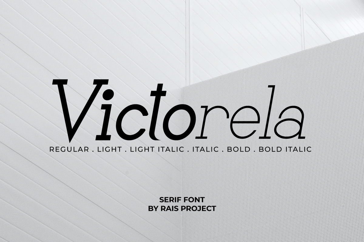 Victorela Slab Serif Font
