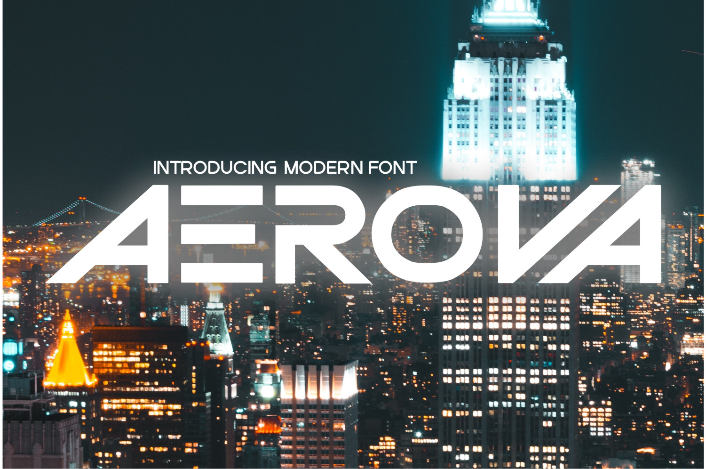 Aerova Display Font
